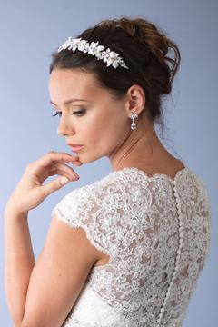 Dareth Colburn Collection Rhinestone Leaf Headband - Product List Image