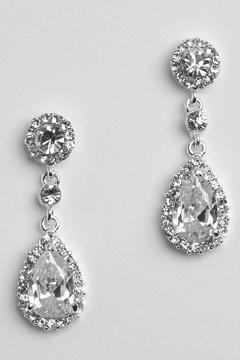 Dareth Colburn Collection Teardrop Wedding Earrings - Alternate List Image