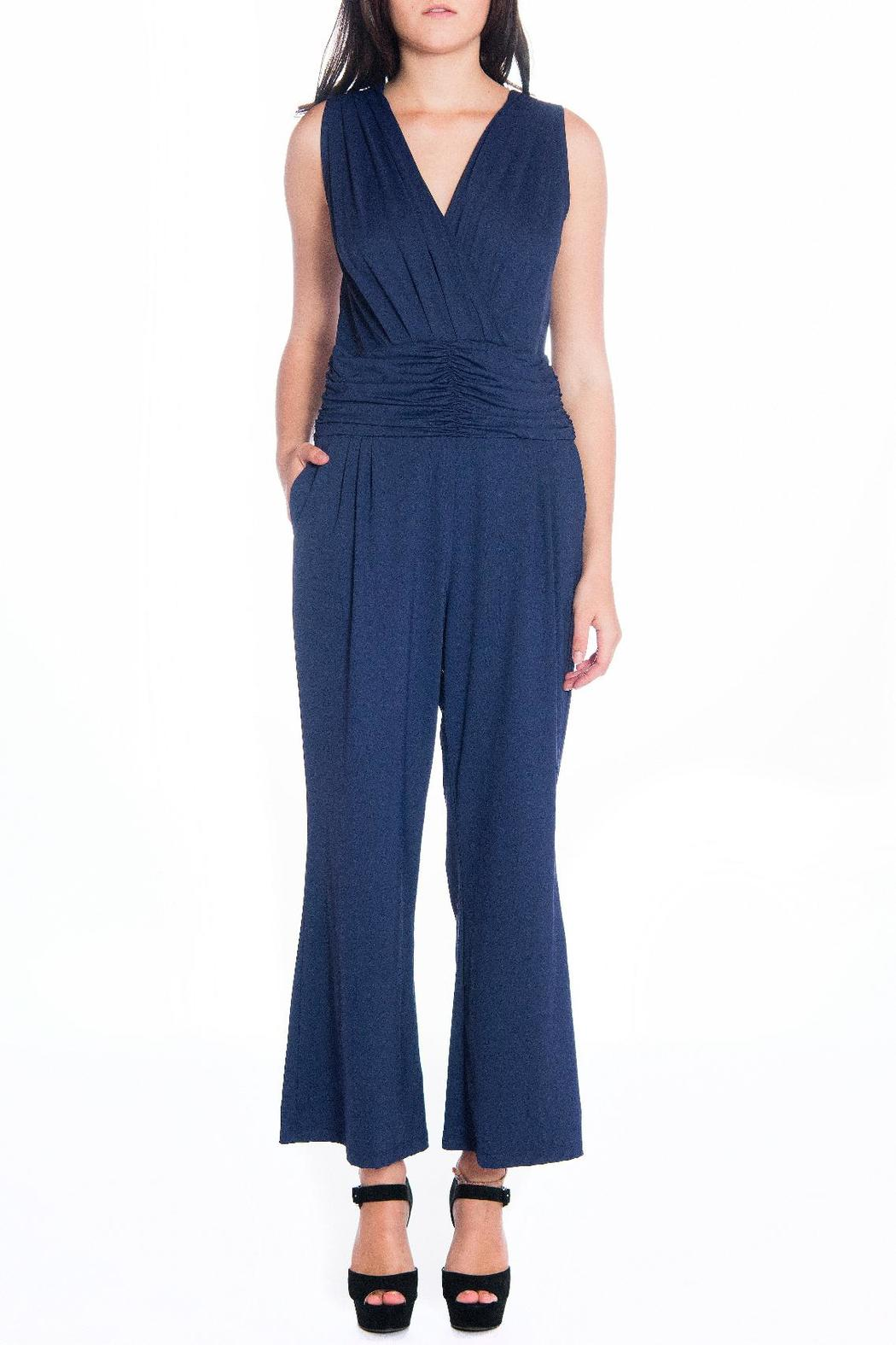 Daria Blue Fitted Jumpsuit - Main Image
