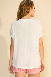 Double Zero Daria Pocket Tee - Side cropped