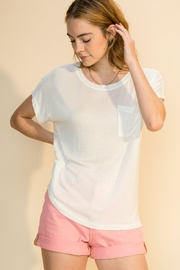 Double Zero Daria Pocket Tee - Front cropped