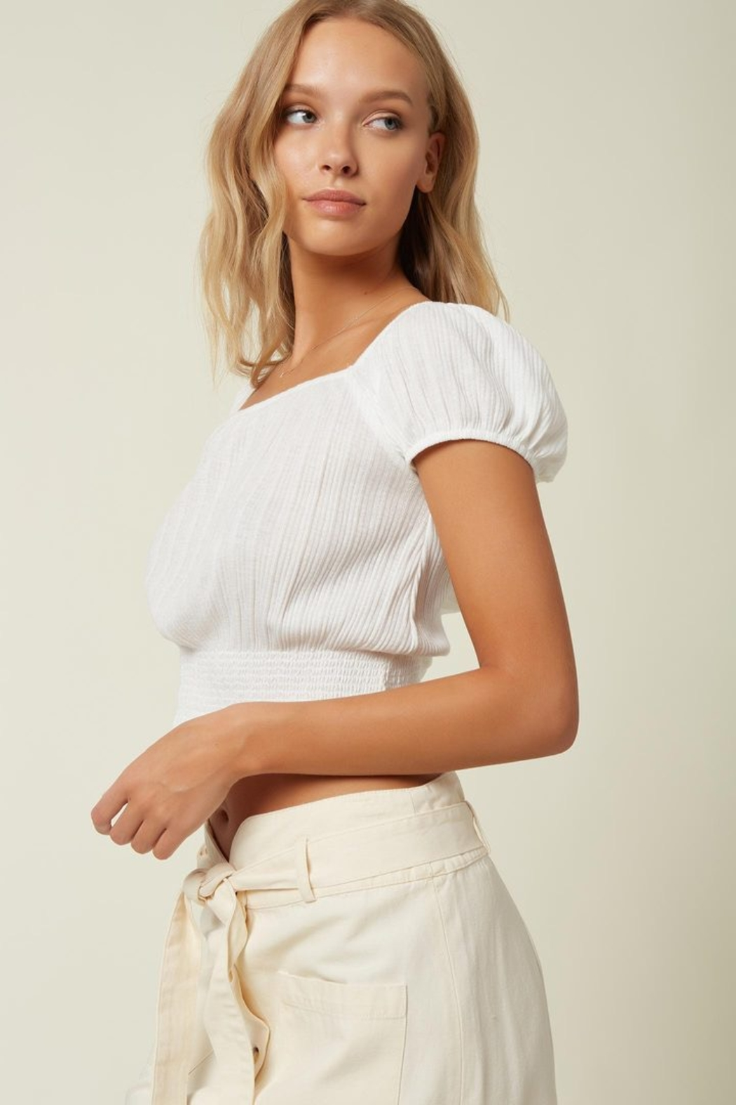 O'Neill Daria Smocked Top - Front Full Image