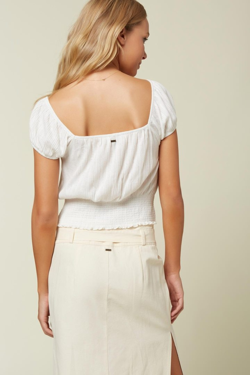 O'Neill Daria Smocked Top - Side Cropped Image
