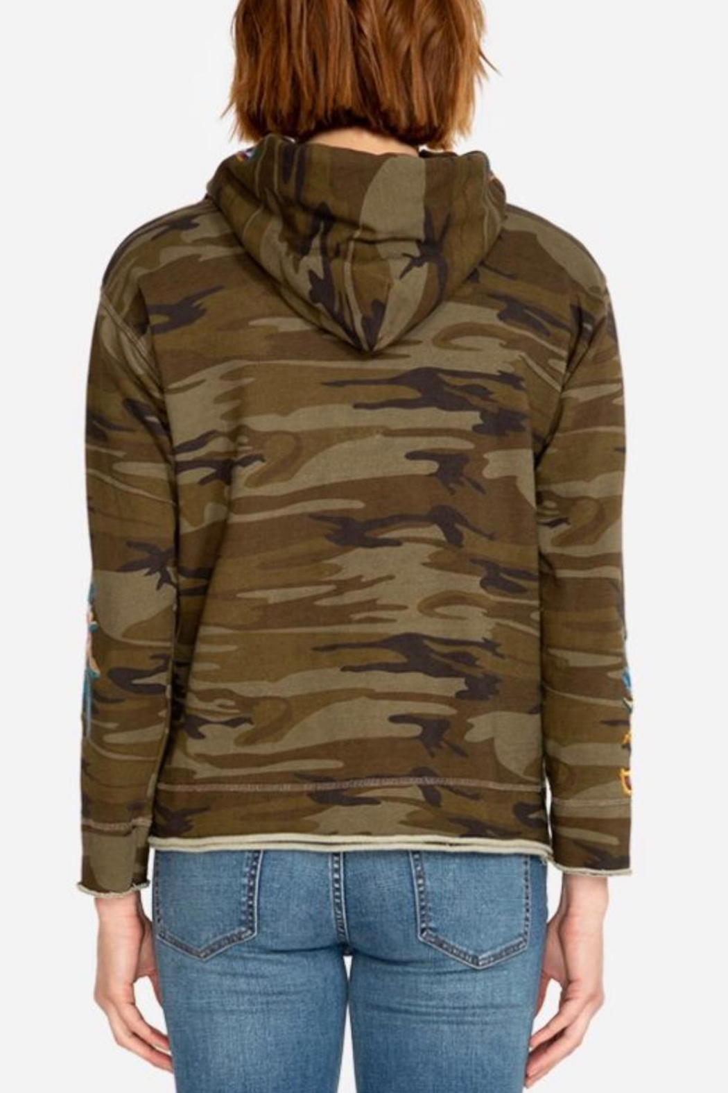 Johnny Was Darielle Camo Hoodie - Front Full Image