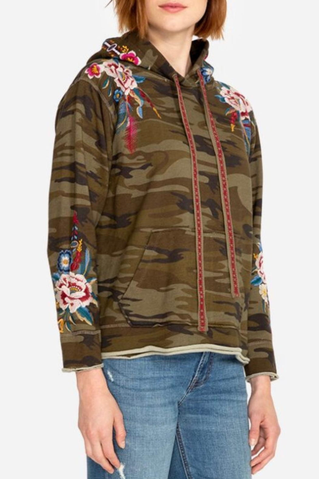 Johnny Was Darielle Camo Hoodie - Side Cropped Image