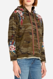 Johnny Was Darielle Camo Hoodie - Side cropped