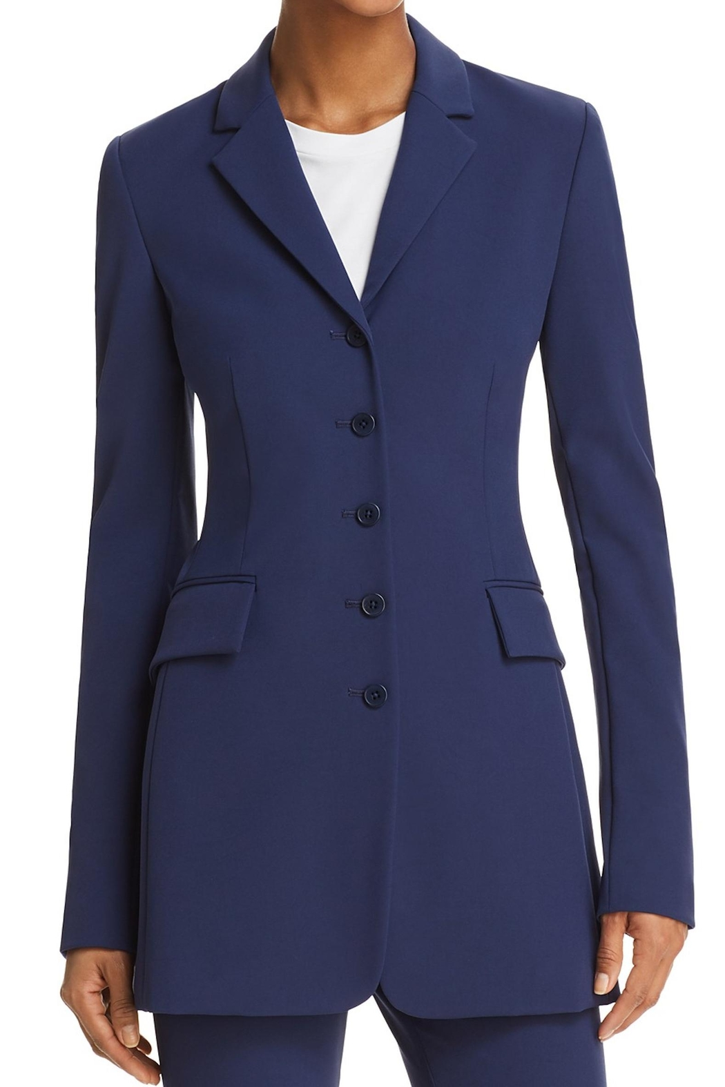 Theory Dark Blue Blazer - Front Cropped Image