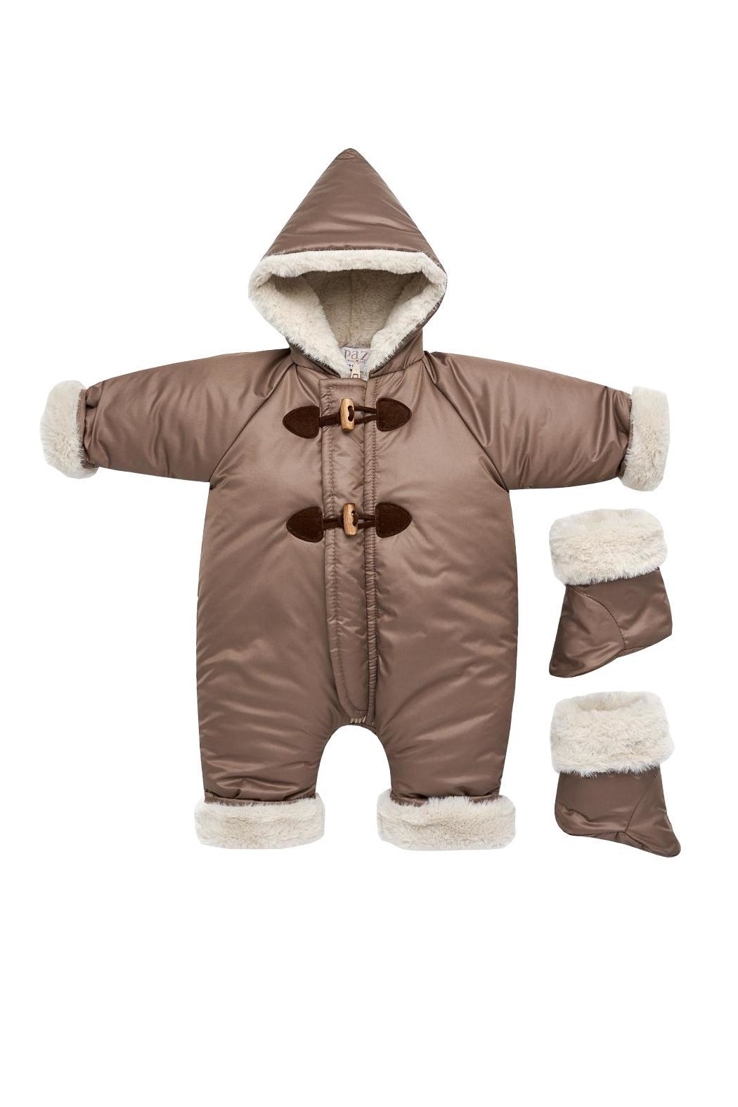 Paz Rodriguez Dark Brown Snowsuit. - Front Cropped Image