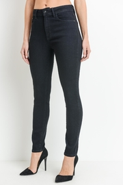 just black Dark Denim Jeans - Front full body