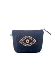Quilted Koala Dark Denim Makeup Bag - Product Mini Image