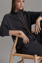Varley Dark Grey Funnel Neck Pull Over - Product Mini Image