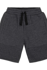Duex Par Duex Dark Grey Quilted French Terry Short - Product Mini Image