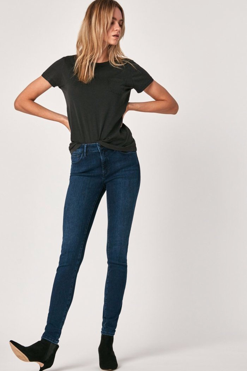 Mavi Jeans Dark Midnight Supersoft Jean - Front Cropped Image