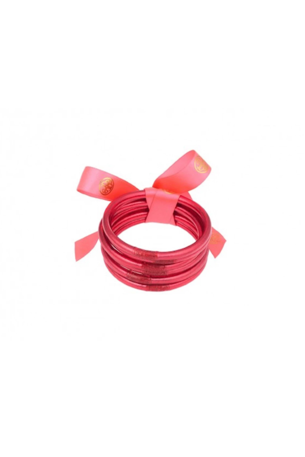 The Birds Nest DARK PINK ALL WEATHER SERENITY BANGLES-MEDIUM - Front Full Image