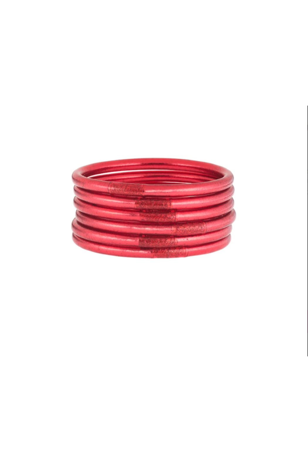 The Birds Nest DARK PINK ALL WEATHER SERENITY BANGLES-MEDIUM - Front Cropped Image