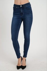 Kan Can Dark Wash Ankle Skinny Denim - Product Mini Image