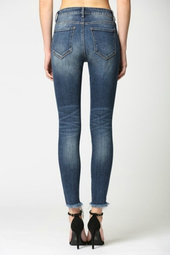 Hidden Jeans Dark Wash High Rise Grinded Skinny - Alternate List Image