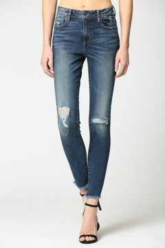 Hidden Jeans Dark Wash High Rise Grinded Skinny - Product List Image