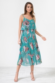 Urban Touch Darkgreen Floral Camimididress - Product Mini Image