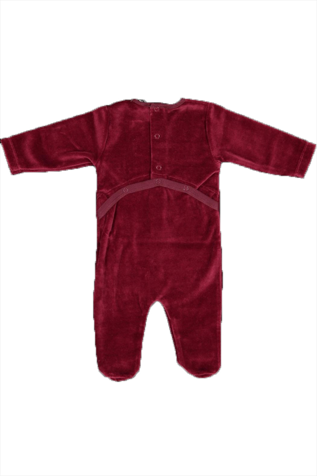 Pounds and Ounces Darkred Velour Strechy - Front Full Image