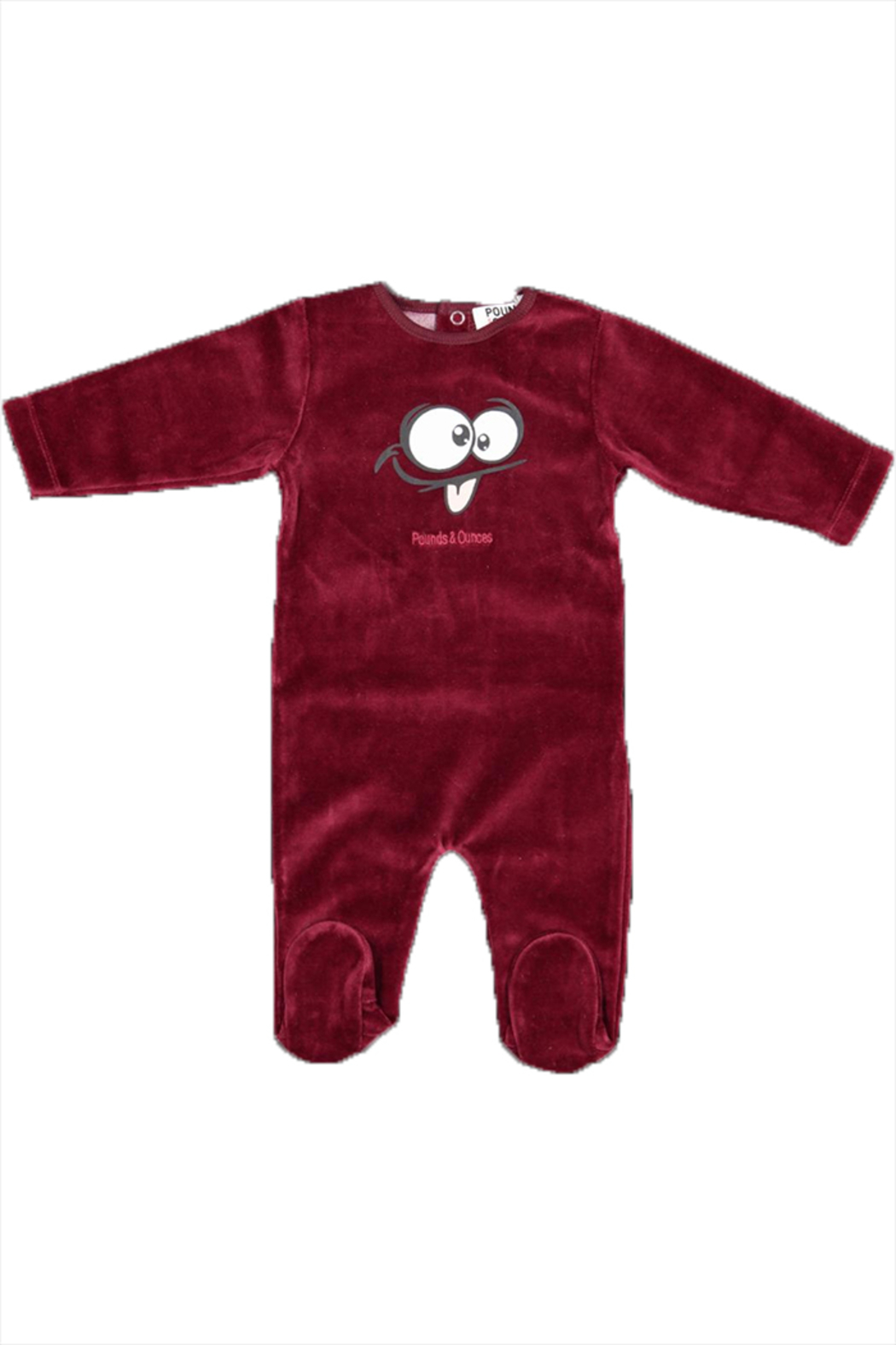 Pounds and Ounces Darkred Velour Strechy - Main Image