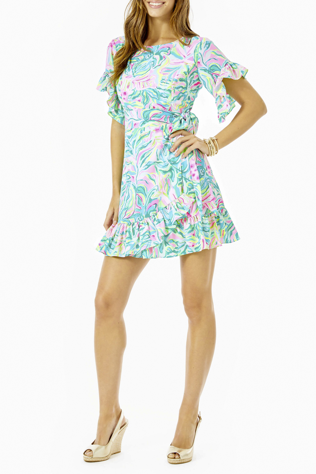 Lilly Pulitzer  Darlah Stretch Dress - Back Cropped Image