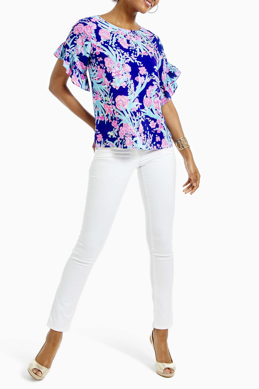Lilly Pulitzer Darlah Top - Side Cropped Image