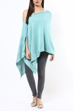 Shoptiques Product: Blue Pointelle Poncho