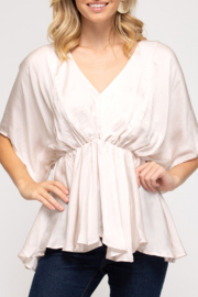 She & Sky  Date Night top - Front cropped