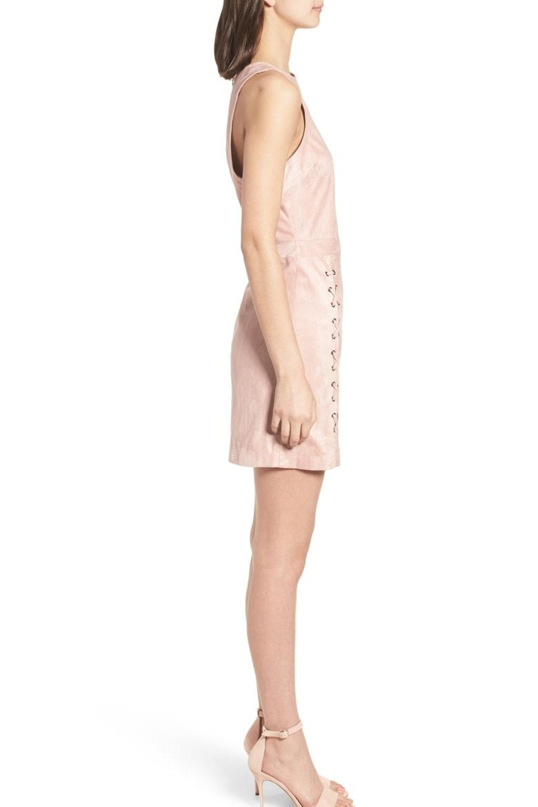 Cupcakes and Cashmere Daton Suede Dress - Side Cropped Image