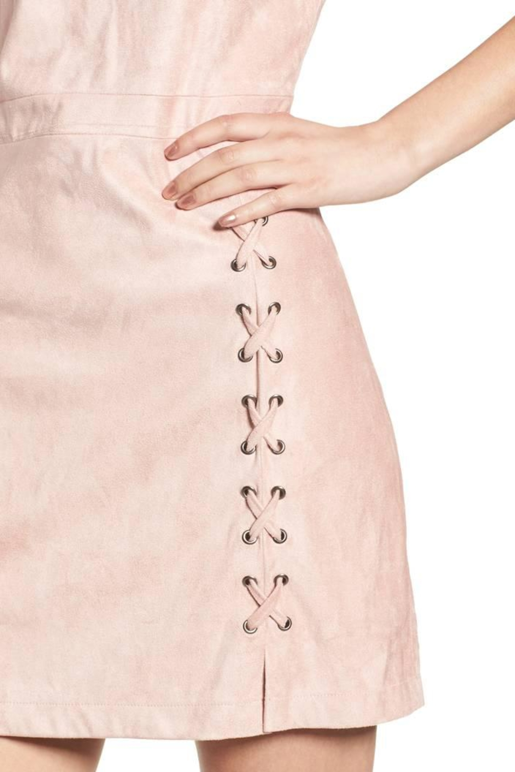 Cupcakes and Cashmere Daton Suede Dress - Back Cropped Image
