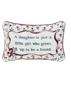MWW DAUGHTER WORD-PILLOW - Product List Image