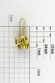 Dave + Esty Gold Fabric Earrings - Back cropped