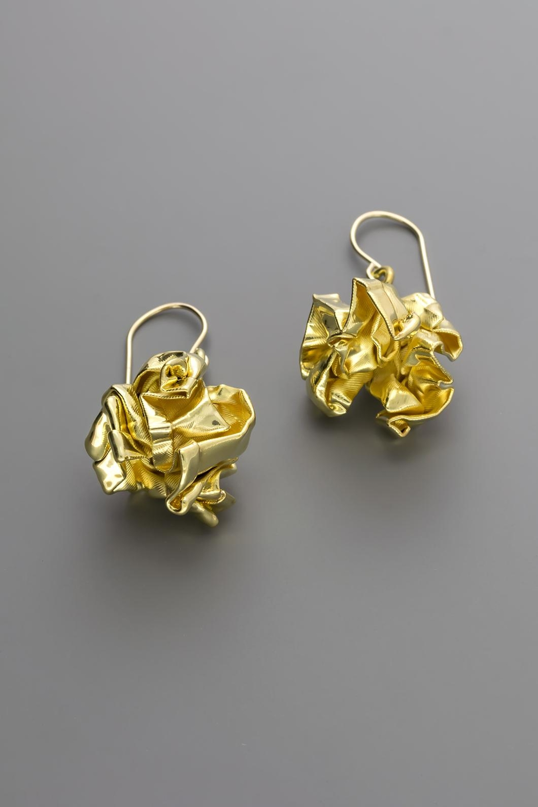 Dave + Esty Gold Fabric Earrings - Main Image