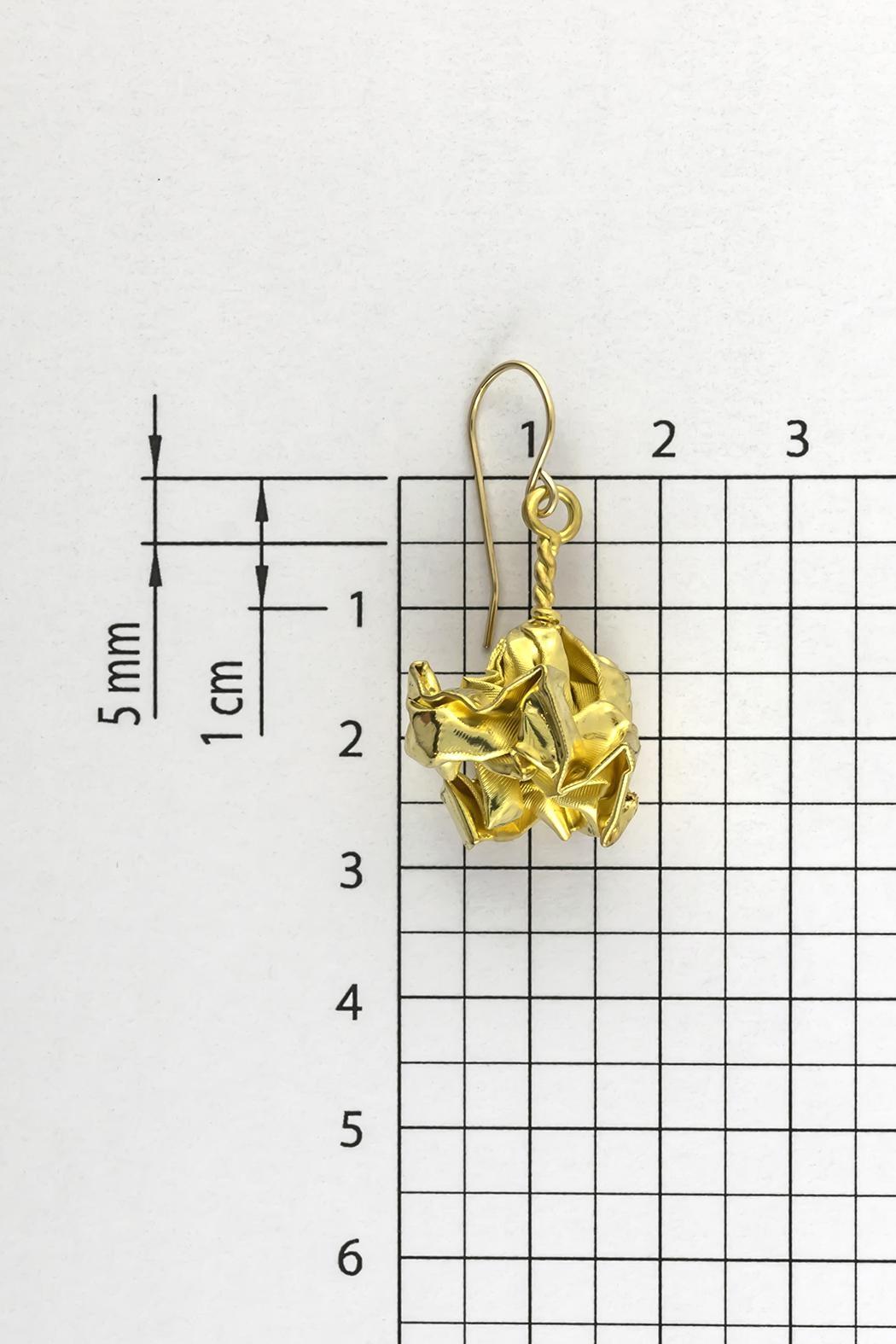 Dave + Esty Gold Fabric Earrings - Side Cropped Image