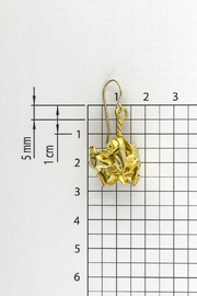 Dave + Esty Gold Fabric Earrings - Side cropped