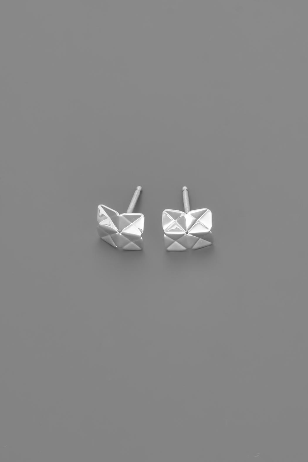 Dave + Esty Square Stud Earrings - Side Cropped Image