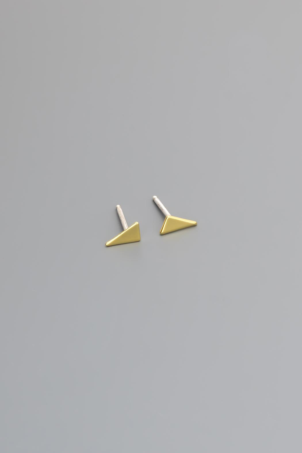 Dave + Esty Triangle Stud Earrings - Main Image