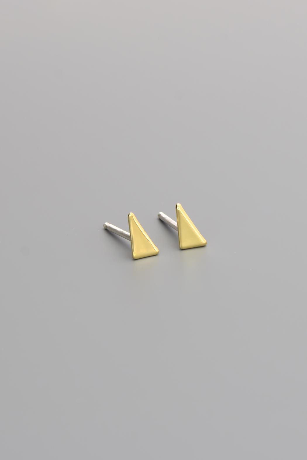 Dave + Esty Triangle Stud Earrings - Side Cropped Image