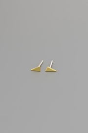 Dave + Esty Triangle Stud Earrings - Back cropped