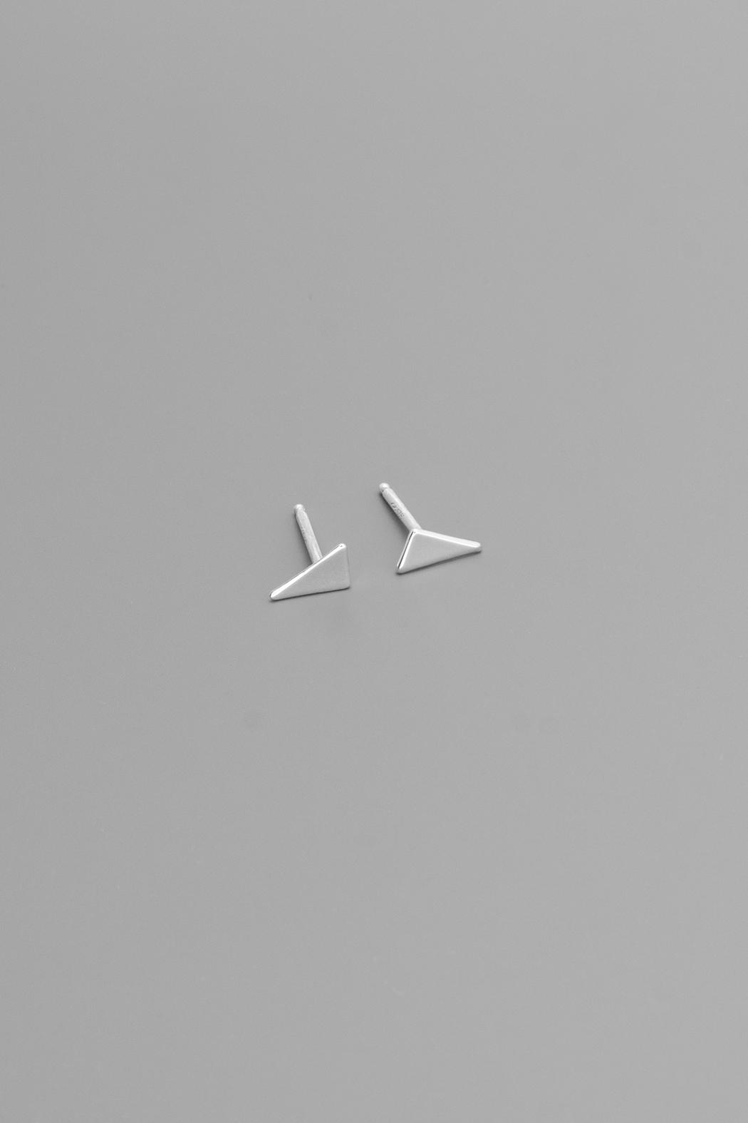 Dave + Esty Triangle Stud Earrings - Front Cropped Image