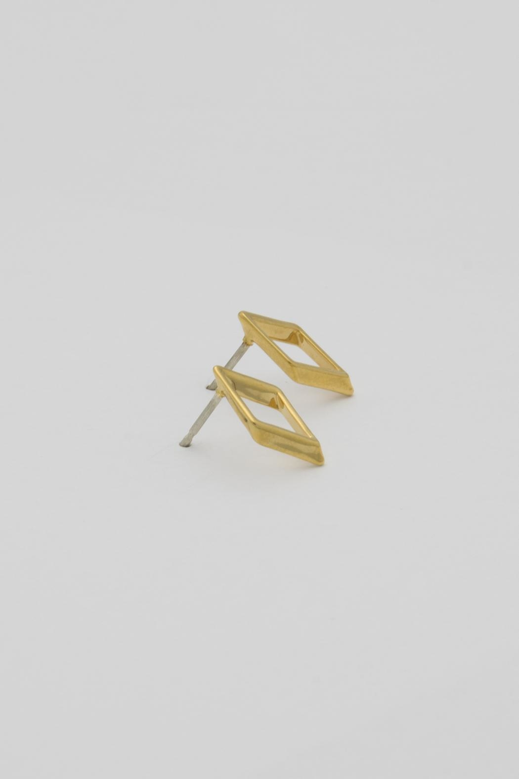 Dave + Esty Rhombus Stud Earring - Side Cropped Image