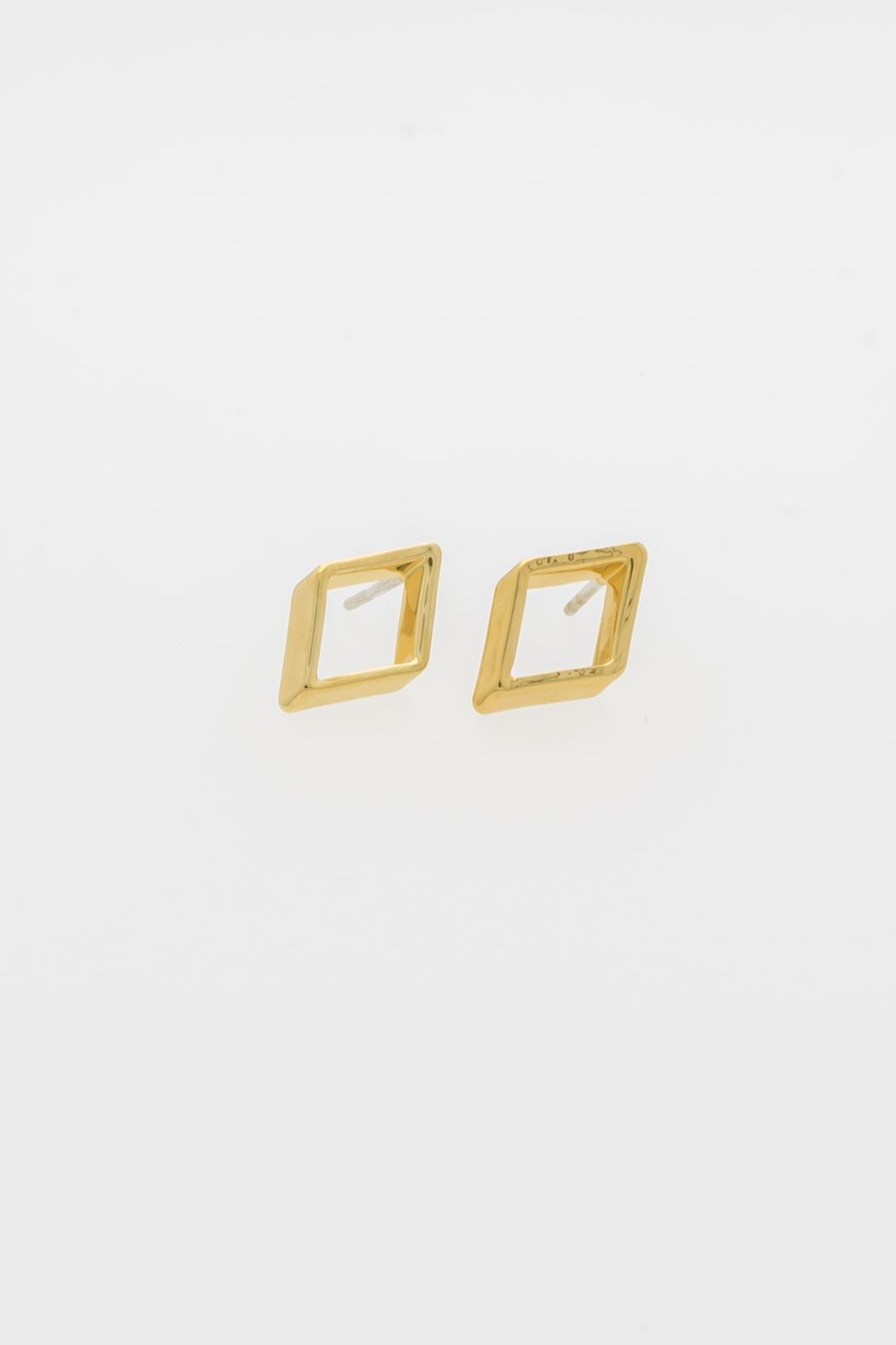 Dave + Esty Rhombus Stud Earring - Back Cropped Image