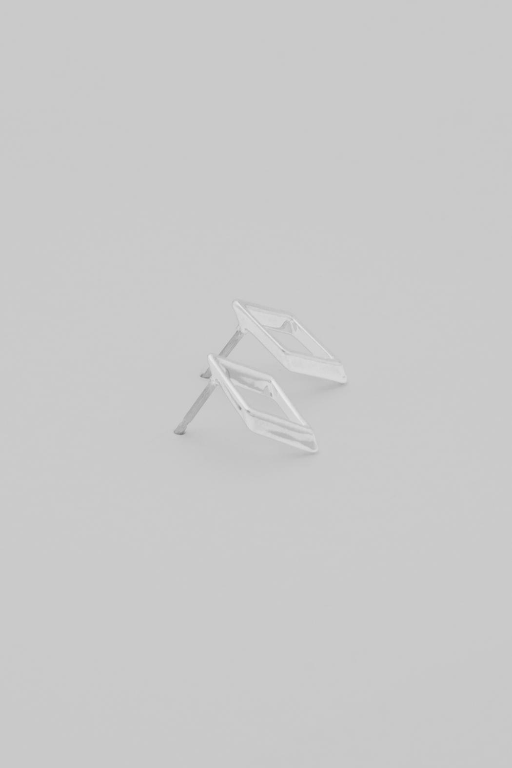 Dave + Esty Rhombus Stud Earring - Front Cropped Image