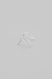 Dave + Esty Rhombus Stud Earring - Front cropped
