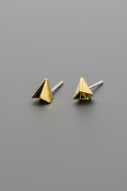 Dave + Esty Folded Stud Earrings - Product Mini Image