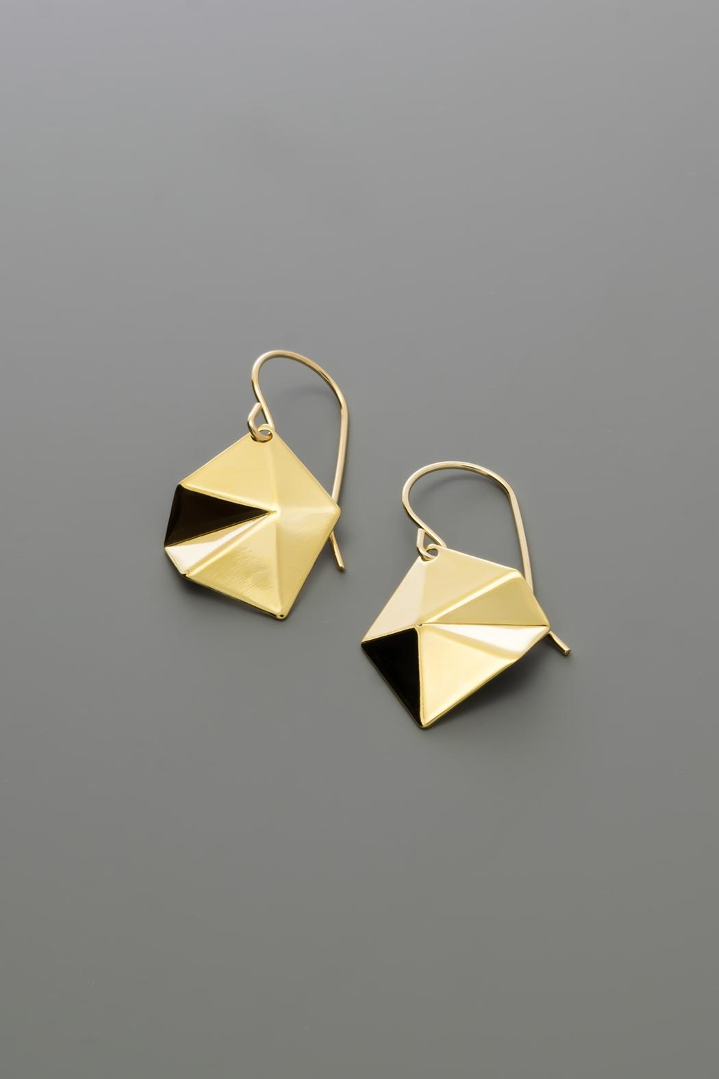 Dave + Esty Diamond Tessellation Earrings - Back Cropped Image