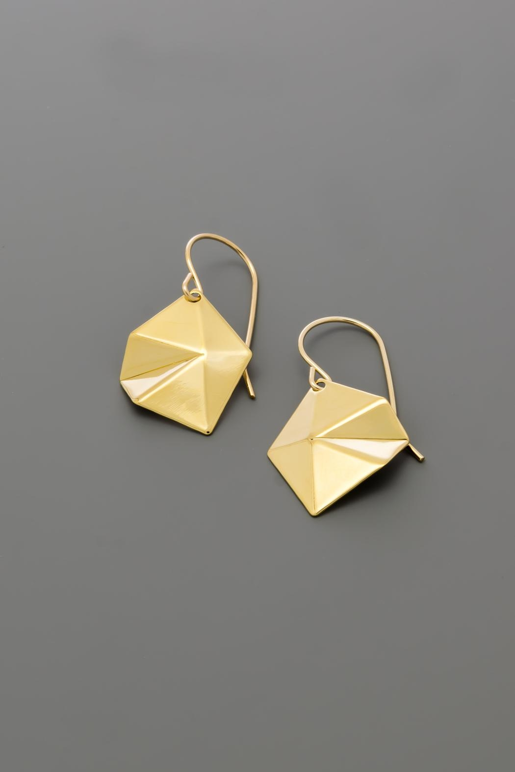 Dave + Esty Diamond Tessellation Earrings - Front Cropped Image