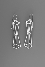 Dave + Esty Pyramids Outline Earrings - Front cropped