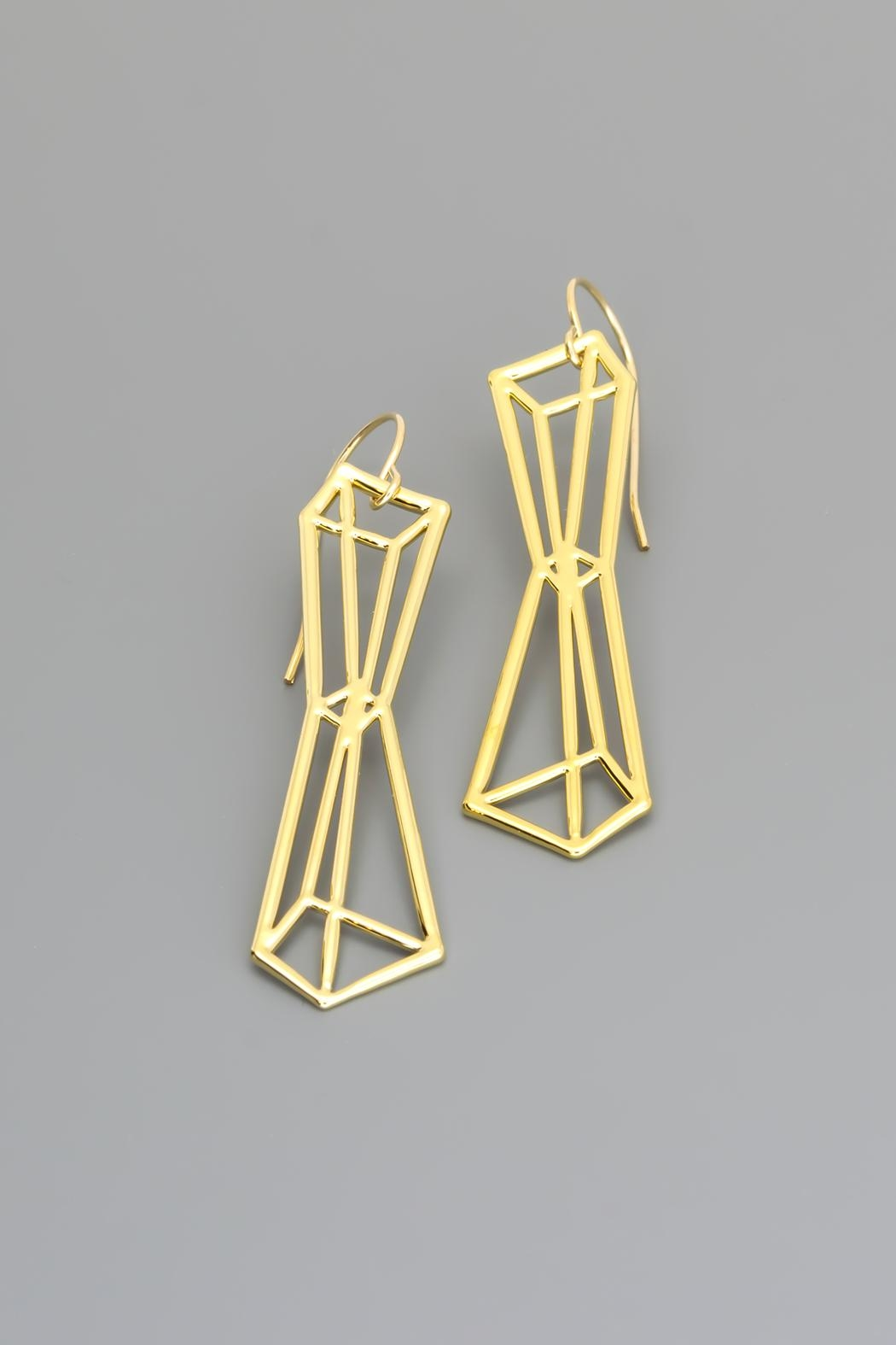 Dave + Esty Pyramids Outline Earrings - Main Image
